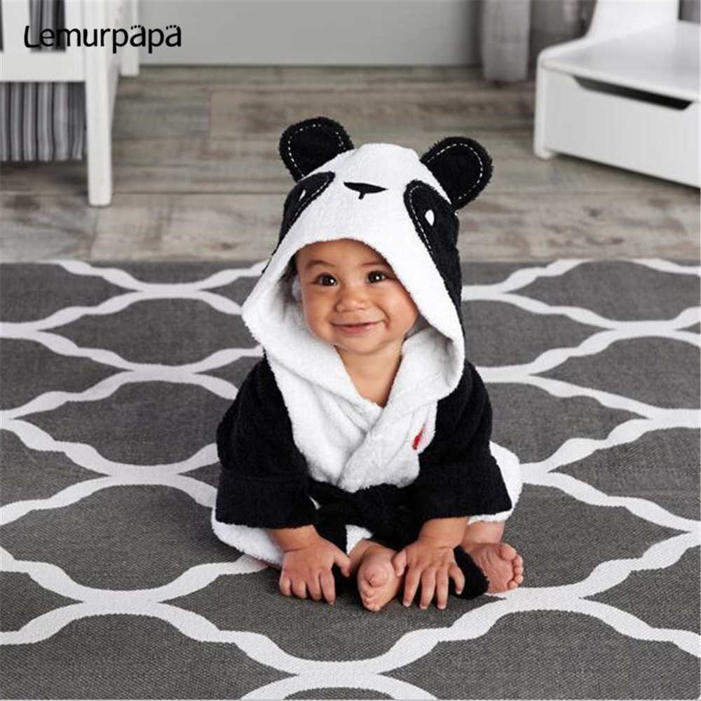 Animal Cartoon Panda Baby Towel Bath Towel Flannel Hooded Bathrobe Baby Stuff New Born Towels Toalla Kids Bath Towel Hood