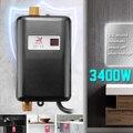 3400 Вт водонагреватель мини электрический без резервуара мгновенный горячий кухонный кран нагрев US/EU штепсельная Вилка Водонепроницаемый б...