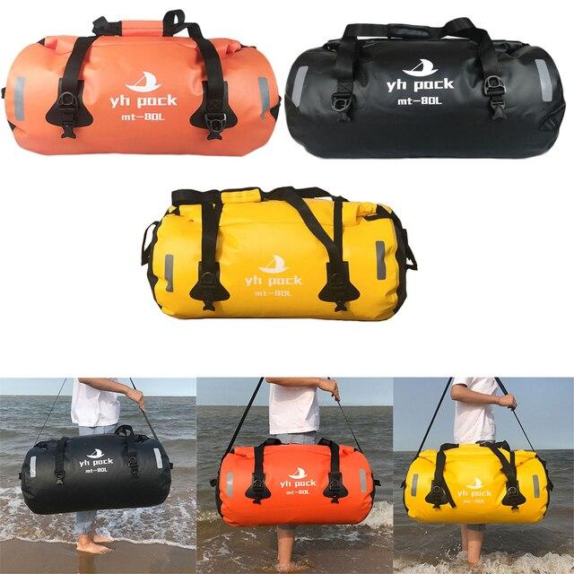 Waterproof Large Capacity Storage Bag Motorcycle Cycling Hiking Bag for Rafting Canoe Boating Trekking Swimming Travel Bag