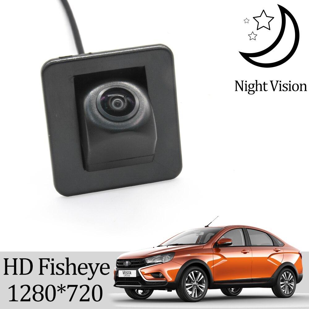 Owtosin HD 1280*720 рыбий глаз камера заднего вида для LADA VESTA SW/VESTA SW CROSS/VESTA спортивные аксессуары для парковки заднего хода