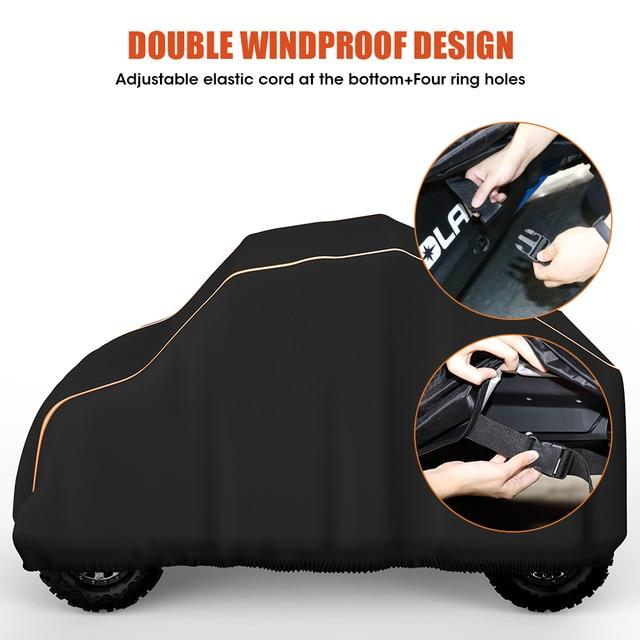 Utv Zwart Waterdicht Utility Voertuig Opslag Cover Side By Side Sxs Voor Polaris Ranger 570 900 1000 Rzr 900 Modellen 2014 2017
