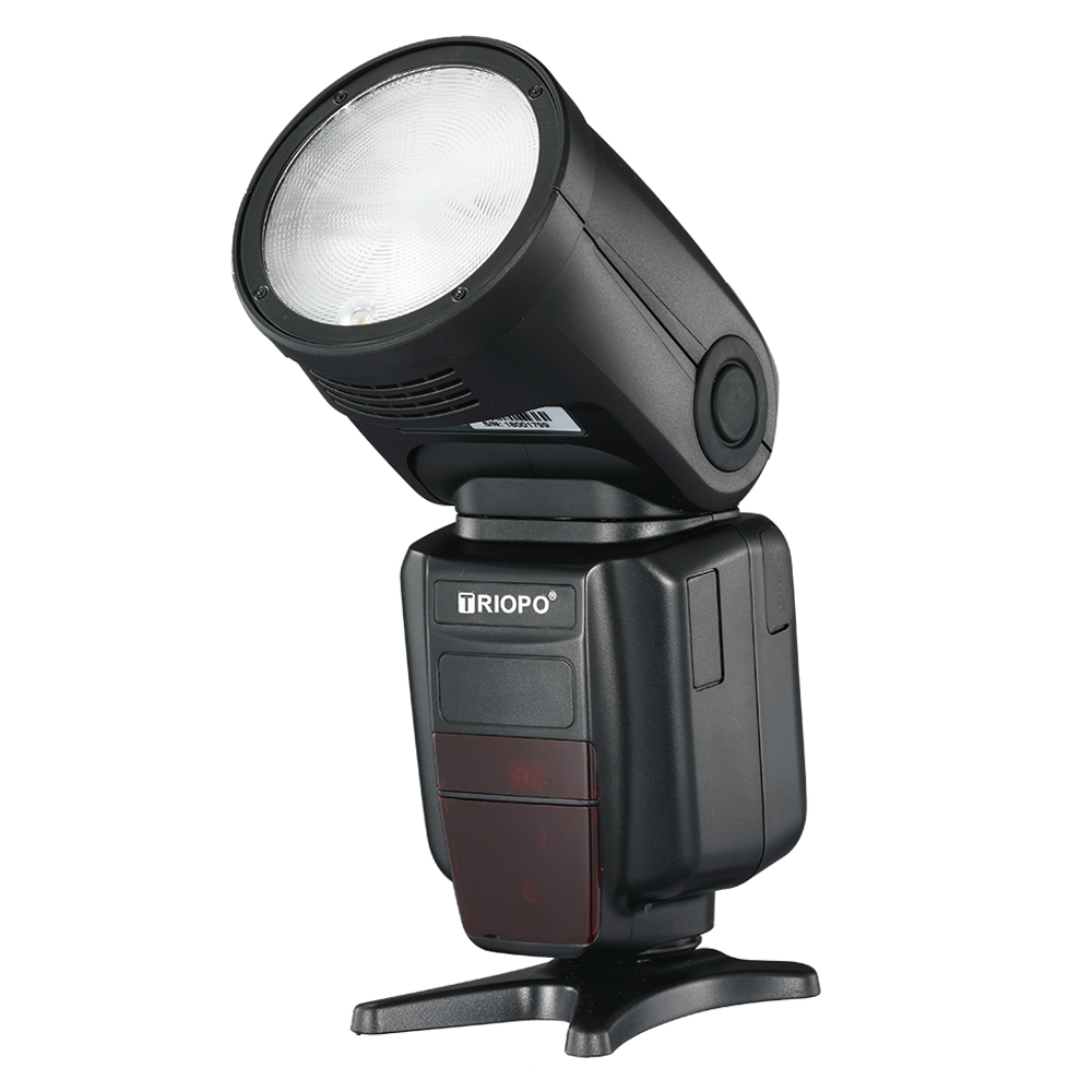 Image 4 - TRIOPO R1 Round Head on camera  Flash 2.4G X Wireless TTL HSS 76Ws Speedlight Flash with Li Battery for Canon Nikon(only falsh)Flashes   -
