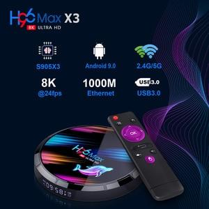 TV Box H96 max Android TV Box Netflix Youtube HD 8K LEMADO TV Box Android 9.0 Google Voice Assistant H96 max X3 Smart Tv Box
