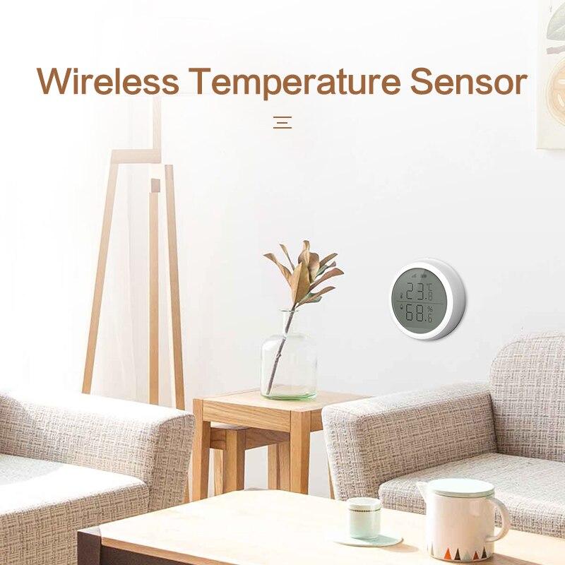 ZigBee WIFI беспроводной датчик температуры и влажности ЖК-экран дисплей работает с TuYa ZigBee хаб Аккумуляторный аварийный сигнал