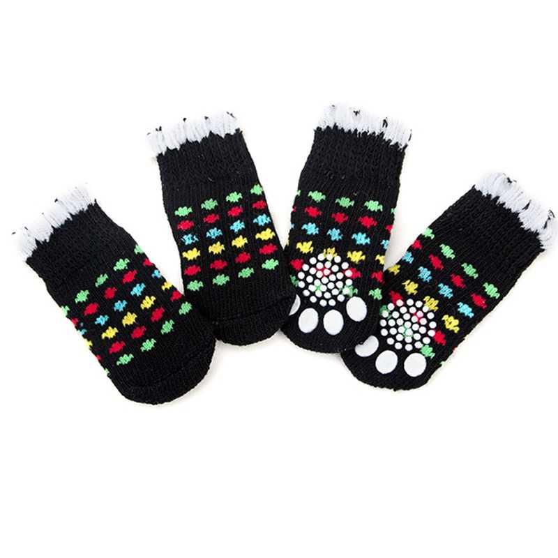 4 sztuk wodoodporne zimowe buty dla psa antypoślizgowe deszcz śnieg buty obuwie grube ciepłe dla małych kotów psy szczeniaczek skarpetki botki