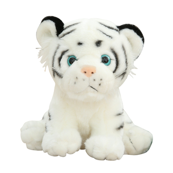 Lovely New arrival Simulation Little Tiger Doll Plush Toy Cute Siberian Tiger Doll White Tiger Ragdoll Children's Birthday Gift larggest size 170cm simulation tiger yellow or white prone tiger plush toy surprised birthday gift w5490