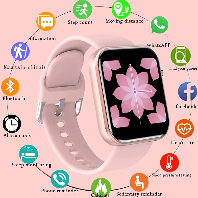 LIGE для женщин Smart Watch IP68 Водонепроницаемый 1,54 полный сенсорный Экран спортивные Smart Watch для женщин фитнес-трекер для измерения сердечного рит...