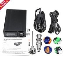 Electric Titanium Alloy E-Nail Box Kit Temperature Control Heater Aromatherapy Oil 16/20mm UK/EU/AU/US Plug E2S 128 x 85 x37 mm