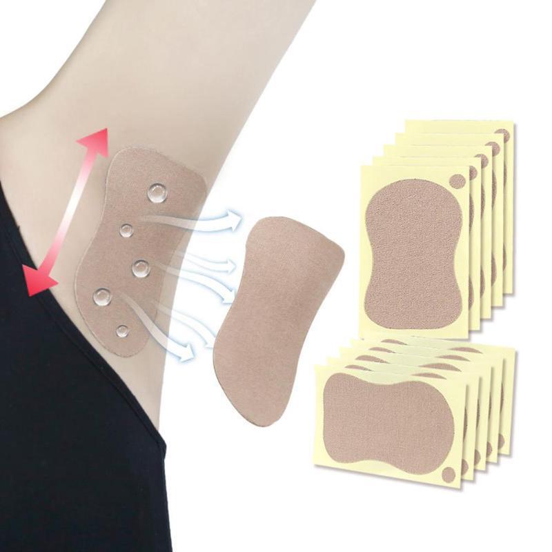 10pcs/Bag Women Underarms Antiperspirant Sticks Disposable Armpits Sweat Pads Towel Foot Deodorant Sweat-Absorbent Pads