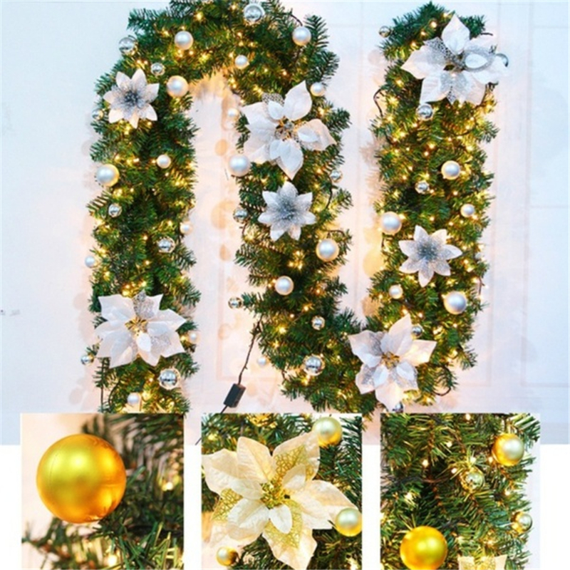 Christmas Garlands Star Pine Rattan Xmas Tree Hanging Ornament Home Decoration