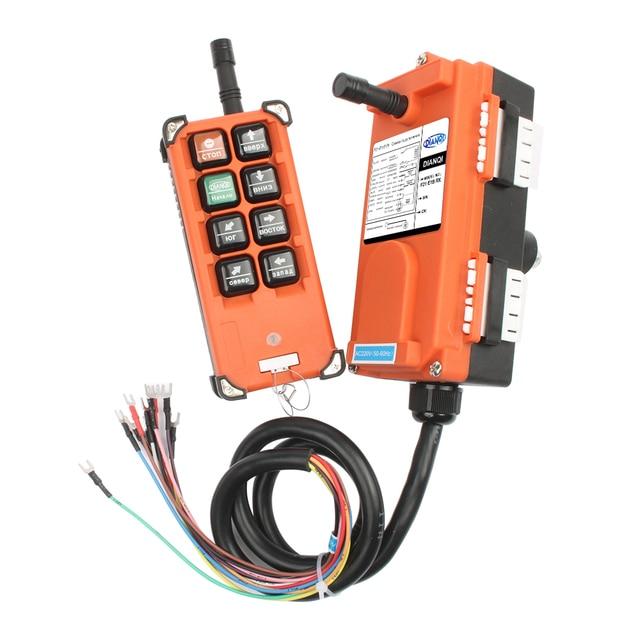220V 380V 110V 12V 24V Industrial remote controller switches Hoist Crane Control Lift Crane 1 transmitter + 1 receiver F21-E1B 4