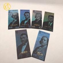 Billetes de 1, 5, 10, 20, 50 y 2020 dólares de EE. UU., para colección de Souvenir, regalo de negocios, novedad de 100