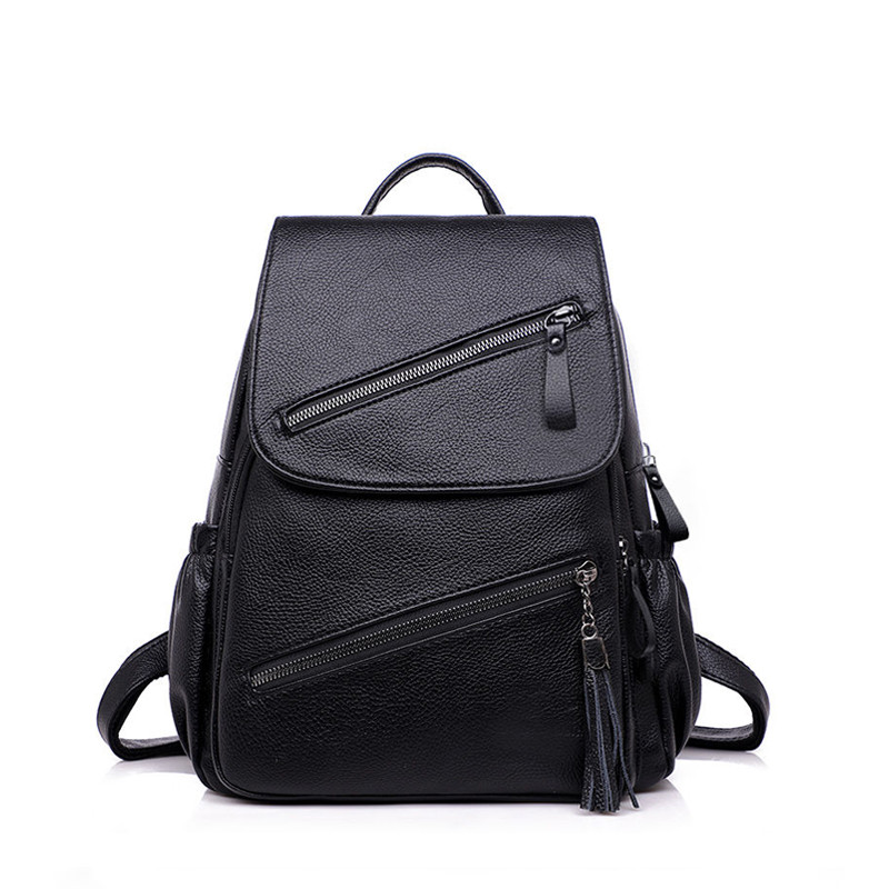 Backpack Women PU Leather Female Bagpack Fashion School Bags For Teenagers Girls Large Capacity Travel Bags Mochila Mujer