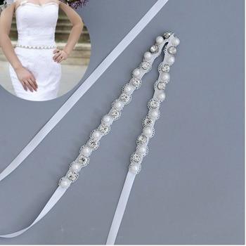 TOPQUEEN S71 Wedding Dress Belt Ladies Belts for Dresses Womens Accessories for Wedding Womens Diamond Belt Ribbon Pearls Belt matrix g3 s71