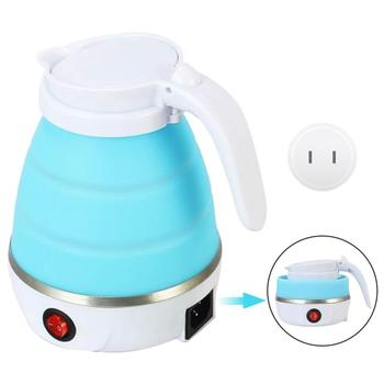Electric Kettle Foldable Silicone Portable Water 600ml Mini Small Kettles Travel Boiler Camping