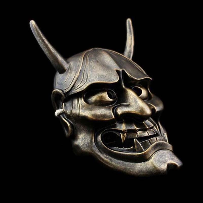 Resin Japanese Buddhist Evil Oni Noh Hannya Mask Masquerade Halloween Cosplay Party Masks