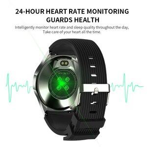 """Image 3 - Lerbyee GT106 Đồng Hồ Thông Minh 1.28 """"Full Màn Hình Cảm Ứng Nhịp Tim Nhắc Cuộc Gọi Tập Thể Hình Đồng Hồ Nam Nữ Nhạc Đồng Hồ Thông Minh Smartwatch IOS"""