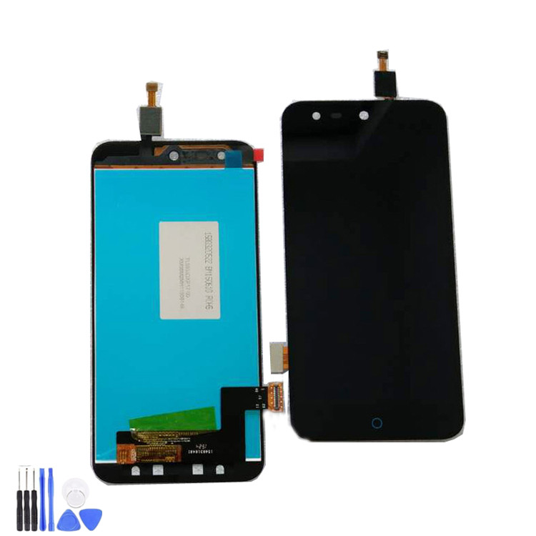 100% Tested High Quality Black 5 inch For <font><b>ZTE</b></font> Blade X5 / Blade D3 <font><b>T630</b></font> LCD Display + Touch Screen Digitizer Assembly Replacement image