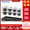 Techege 5MP POE CCTV Kit 8CH Camera System Vandalproof IP Camera Audio Record Motion Email Alert Video Security Camera System
