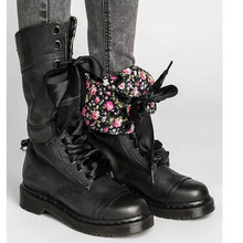 цена на Women Boots Vintage Retro Military Boots Lace Up Female Motorcycles Boots Lace Up Leather Mid-calf Boots Plus Size 35-43
