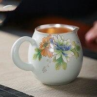 Fair Tasse sterling silber 999 Kung Fu tee set tee Haifen tee set keramik haushalt tee zeremonie zubehör-in Teeschale aus Heim und Garten bei