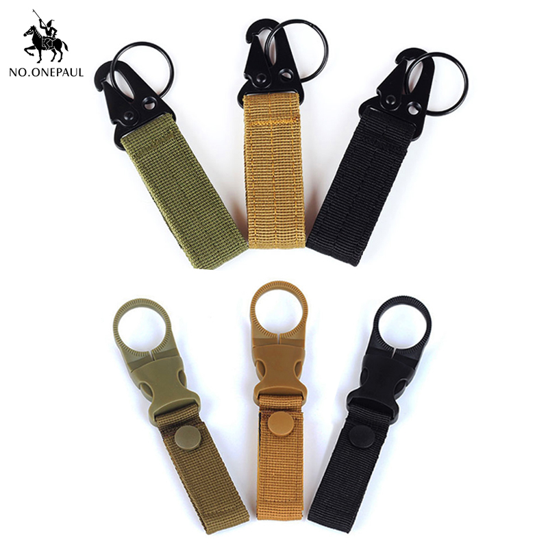 NO.ONEPAUL Outdoor Multi-function Belt Buckle Hiking Backpack Nylon Hanging Buckle Men's Tactical Belt Accessories New Keychain