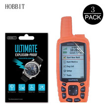 3 adet 5H anti-şok PET Film Garmin Astro 430 GPS aksesuarları çizilmeye dayanıklı ekran koruyucu LCD ekran koruyucu Film