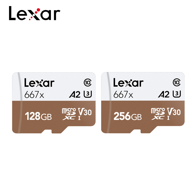 Tarjeta de memoria profesional Lexar 667x SDXC UHS-I tarjeta Micro SD con adaptador 128GB 256GB A2 U3 V30 C10 tarjeta TF para vídeo 4K Nuevo listado Sony Xperia 1 J9110 teléfono móvil 6,5