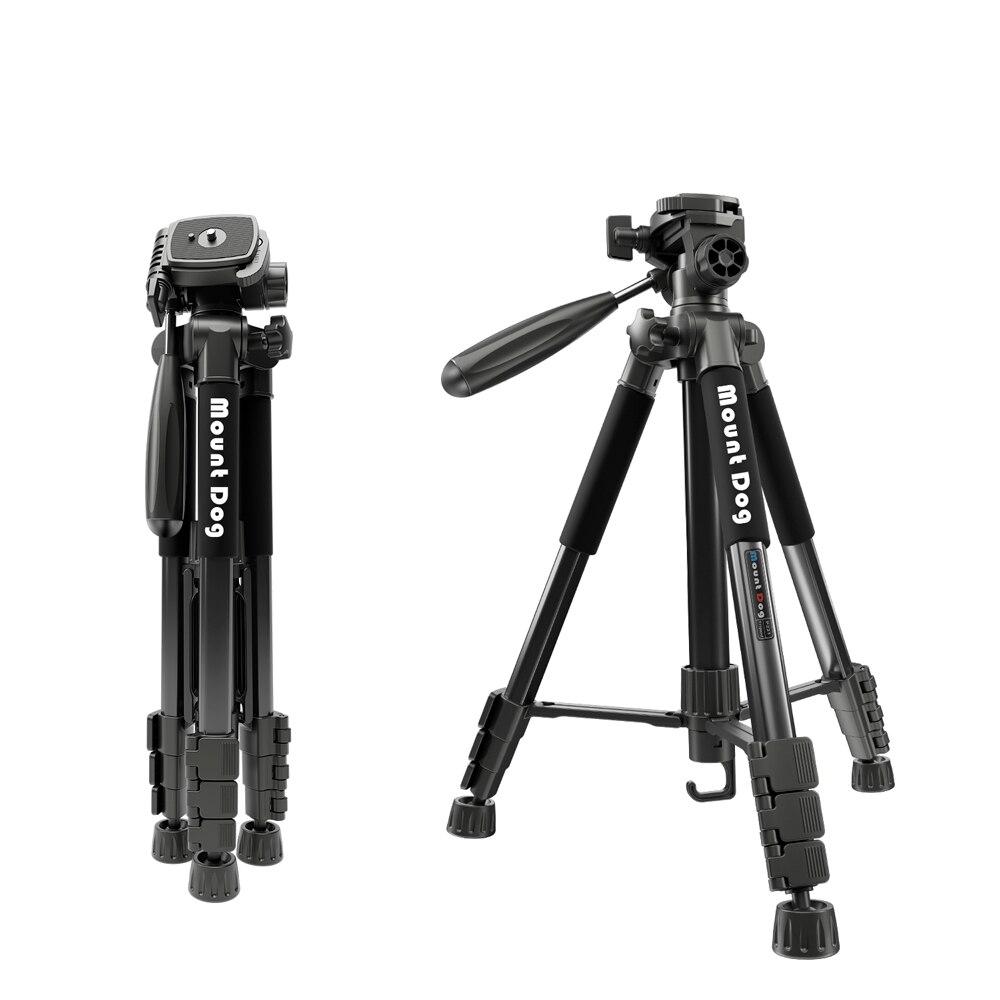 MountDog Professional Portable Aluminium Camera Travel Tripod 70 inch Dslr Camera pan head Digital