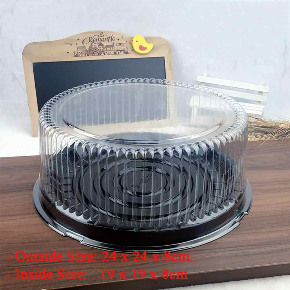 10pcs 10.5 นิ้วโปร่งใสกล่องเค้กพลาสติกเค้กกล่องบรรจุภัณฑ์โปร่งใส CLEAR คัพเค้กมัฟฟินโดมผู้ถือกรณีแต่งงาน