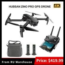 Hubsan h117s zino pro gps 4km, 5g 36 km/h, wifi, fpv, drone com câmera para 4k uhd drone quadricóptero dobrável, 3 eixos, braço rc