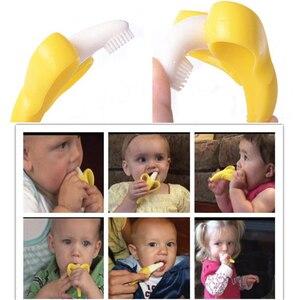 Image 5 - ベビーおしゃぶりおもちゃよちよち安全 bpa フリーバナナ生えるリングシリコーン咀嚼歯科ケア歯ブラシ看護ビーズギフト幼児