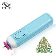 TTLIFE портативный Электрический Квиллинг щелевой инструмент автоматический объем бумаги керлинг ручка для дома и сада ручная работа, сделай сам, ремесло