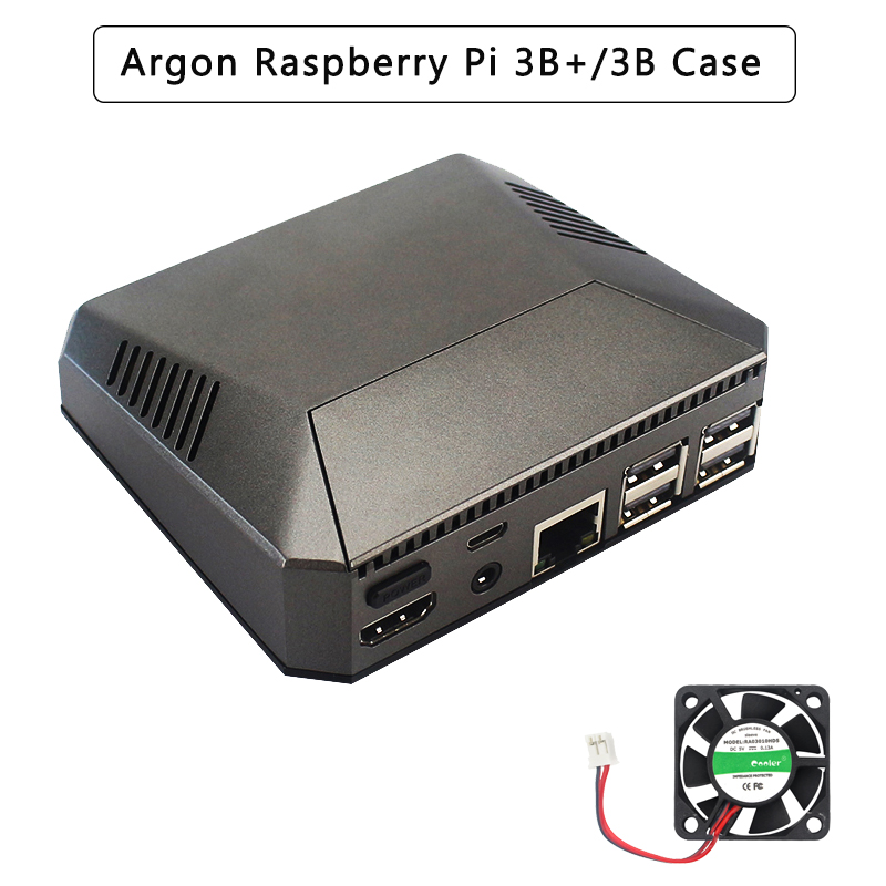 Argon Raspberry Pi 3 Model B+ Case Aluminum Box Metal Enclosure + Cooling Fan + Heat Sinks For Raspberry Pi 3 B/B+