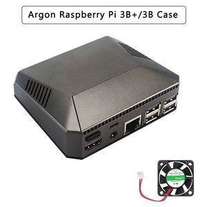 Image 1 - Argon Raspberry Pi 3 Model B + Ốp Lưng Hộp Nhôm Kim Loại + Quạt Làm Mát + Quạt Tản Nhiệt Cho Quả Mâm Xôi pi 3 B/B +