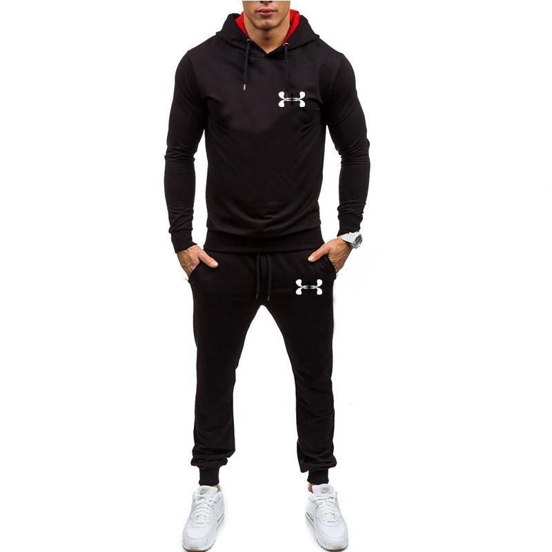 YUANHUIJIA Brand Sporting Suit Men Suit Men Hoodies Sets Mens Gyms Sportswear Jogger Suit Male Tracksuit Sets 1 Order