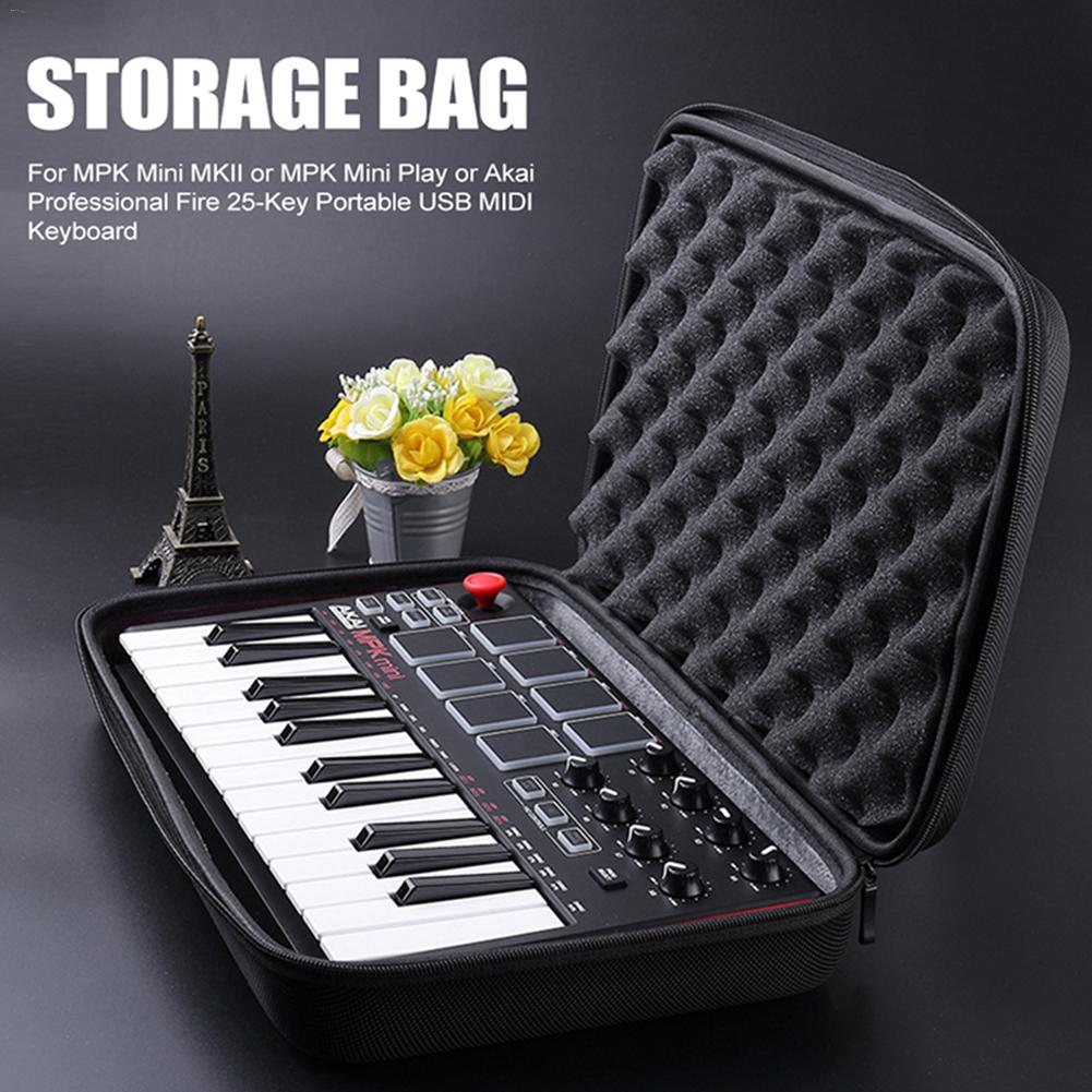 Instrument Storage Bag For MPK Mini MK2 Keyboard Hard Case Travel Carrying Protective Bag For Mini Play Akai Professional