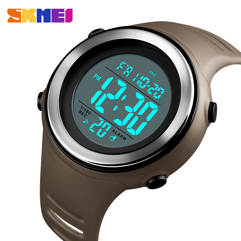 <font><b>SKMEI</b></font> Men Sports Watch LED Luminous 50M Waterproof Digital Watch Dual Time Back Light Water Resistant Watches Relogio Masculino image