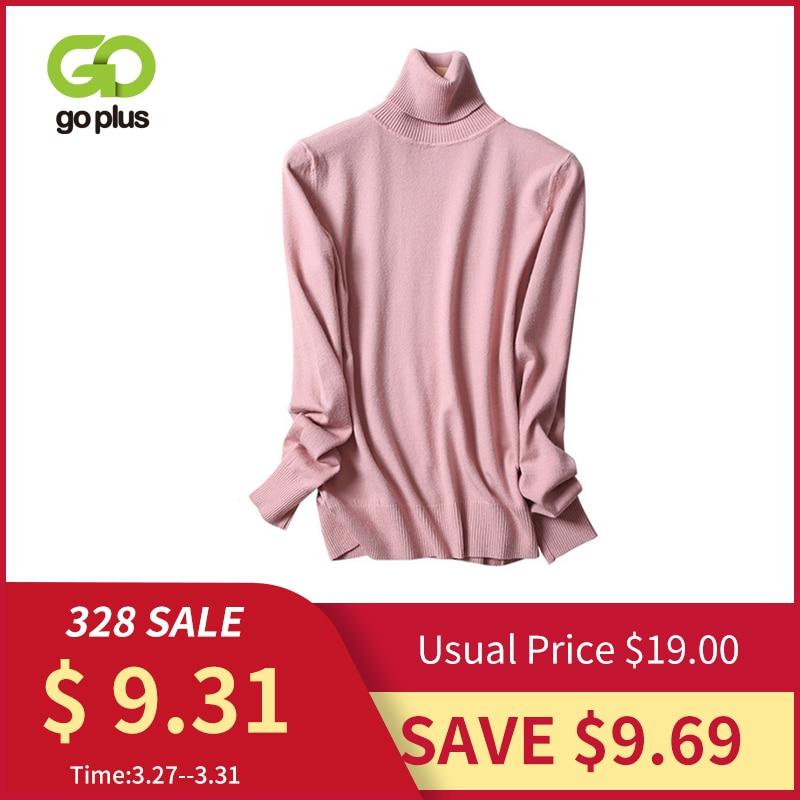 GOPLUS Turtleneck Women's Knitted Sweater Warm Long Sleeve Sweaters For Women Pullover 2019 Winter Slim Jumper Clothing Femme