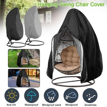 Hanging Egg Chair Cover Waterproof Patio Swing Dustproof Chair Cover For Outdoors Garden Protective Case