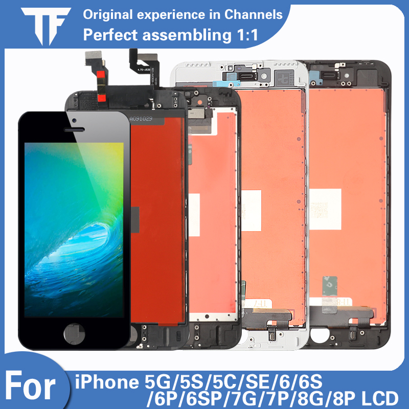 Aaa + + + Voor Iphone 5 S 5G Se 5C 6G 6S 7G 8G Lcd Met 3D Kracht Touch Screen Digitizer Montage Voor Iphone 6P 6sP 7P 8Plus Display title=