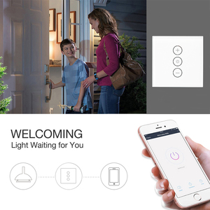 Image 4 - גארמה WiFi חכם קיר מגע אור דימר מתג חכם חיים/Tuya APP שלט עובד עם אמזון Alexa ו google בית
