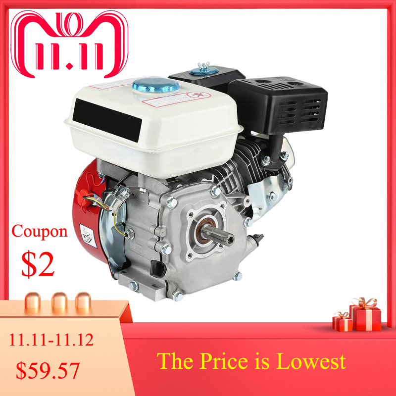 Petrol Engine Air Cooled 4 Stroke Engine 6.5HP Pull Start 168F OHV Single Cylinder Replacement Petrol Engine