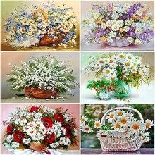 5D Diamond Painting Embroidery Flower Mosaic Cross-Stitch Rhinestones Home-Decor Full
