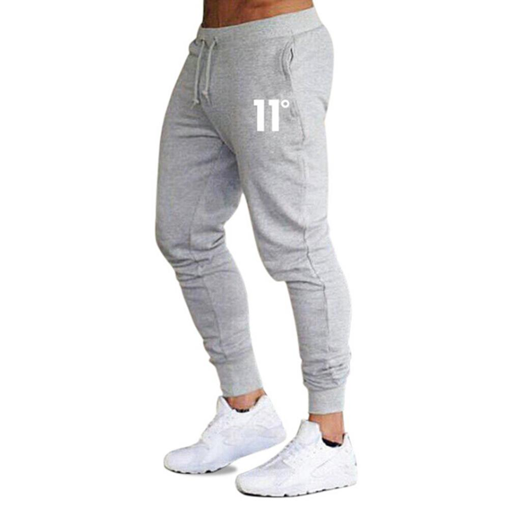 2020 men's quality brand men's cotton 9-point pants fitness casual stretch pants bodybuilding casual sports pants jogging pants title=