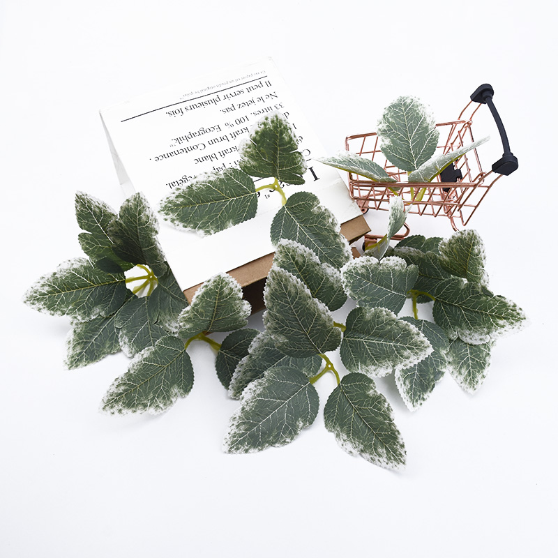 20 Pieces Artificial Plants For Home Decoration Christmas Leaves Decorative Flowers Wreaths Wedding Bridal Accessories Clearance Bridesmaid Wrist Flower Material New Year Gifts Candy Box Crafts Bathroom Decor Silk Leaf