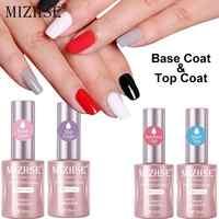 MIZHSE 18ML Base and Top Coat Gel Nail Polish UV 15ml Transparent Soak Off Primer Gel Polish Long Lasting Gel Lacquer Nail Art