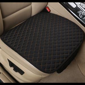 Image 3 - 2020 Brand New Linen Car Seat Cover Flax Cushion Breathable Protector Non Slide Auto Accessories Universal Size E1 X36