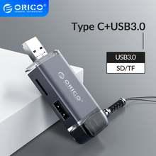 Картридер orico multi 6 в 1 usb 30 micro 20 type c к sd tf адаптер