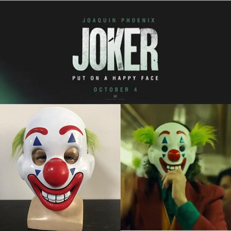 2019 New Joker Mask Film Television Periphery Arthur Fleck Gunman Halloween Ball Cosplay Prop Accessories PVC Mask